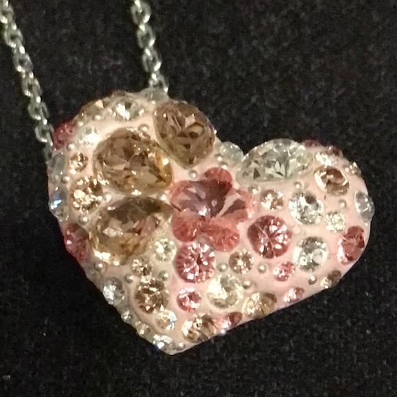 5de15ff823533 FINAL PRICE Swarovski Pink Heart Crystal Necklace
